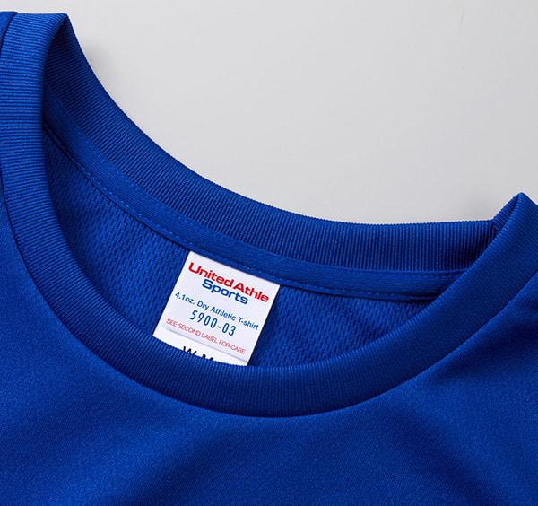ドライアスレチックTシャツ〈ウィメンズ〉の襟周り
