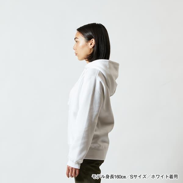 モデル身長160㎝/Sサイズ/ホワイト 着用/サイドシルエット