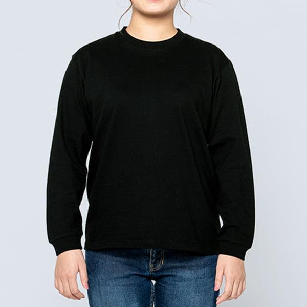 女性モデル身長161㎝/Sサイズ/ブラック着用/正面シルエット