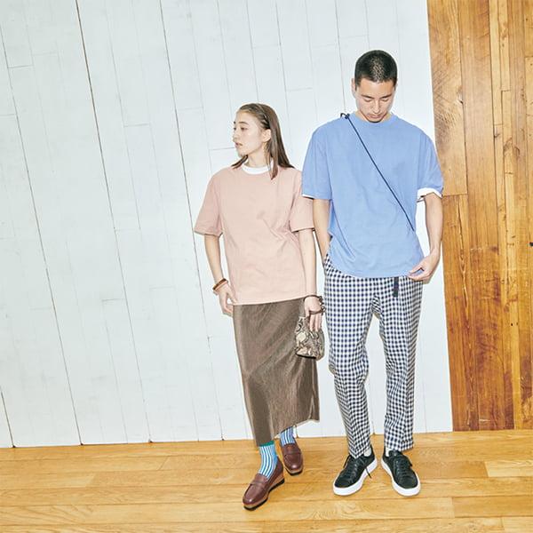 男性モデル身長185cm Lサイズ着用/女性モデル身長164cm Sサイズ着用