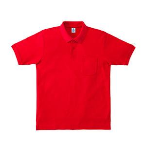 ポケット付CVC鹿の子ドライポロシャツ