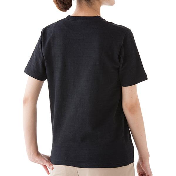 女性モデル身長163㎝/XSサイズ/ブラック着用/背面シルエット