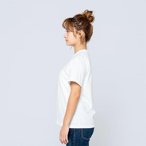 モデル身長161㎝/Sサイズ/ホワイト着用/サイドシルエット