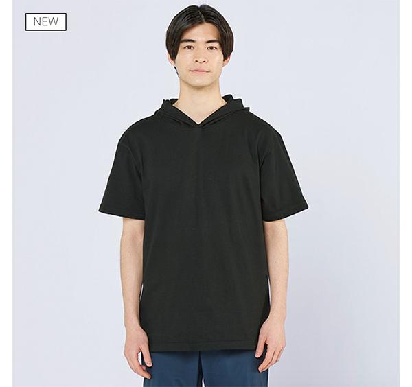 ヘビーウェイトフーディTシャツの着用正面_男性