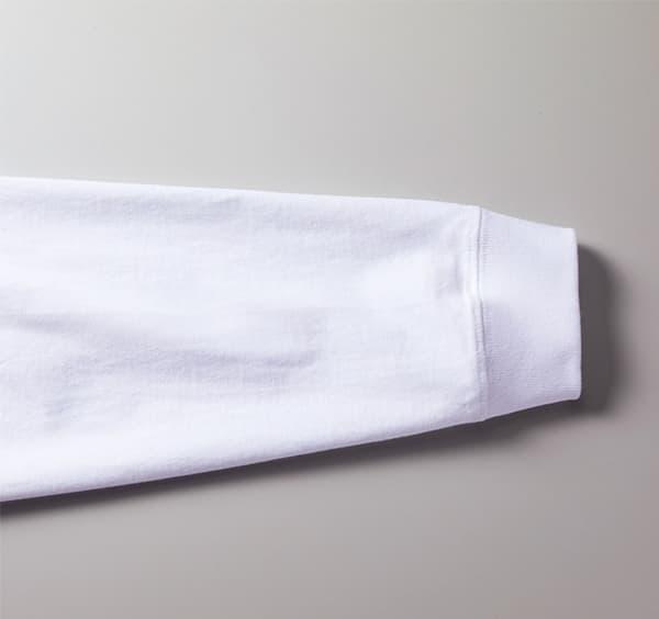 ビッグシルエットロングスリーブTシャツの袖