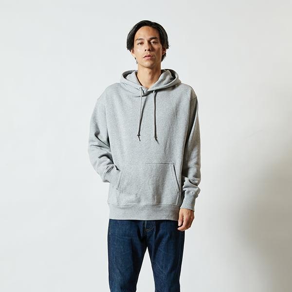 モデル身長182㎝/XLサイズ/ミックスグレー着用