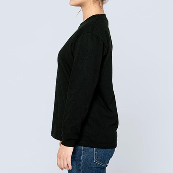女性モデル身長161㎝/Sサイズ/ブラック着用/サイドシルエット