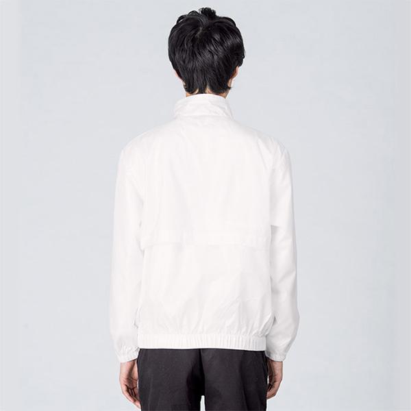 モデル身長184cm ホワイト Lサイズ着用 背面イメージ