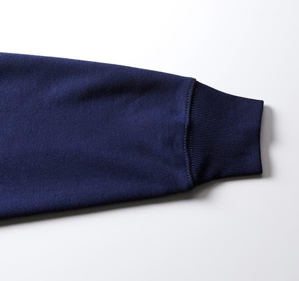 ヘヴィーウェイトスウェットフルジップパーカー(裏パイル)の袖
