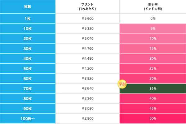 ソフトタッチブランケット(S)の価格表
