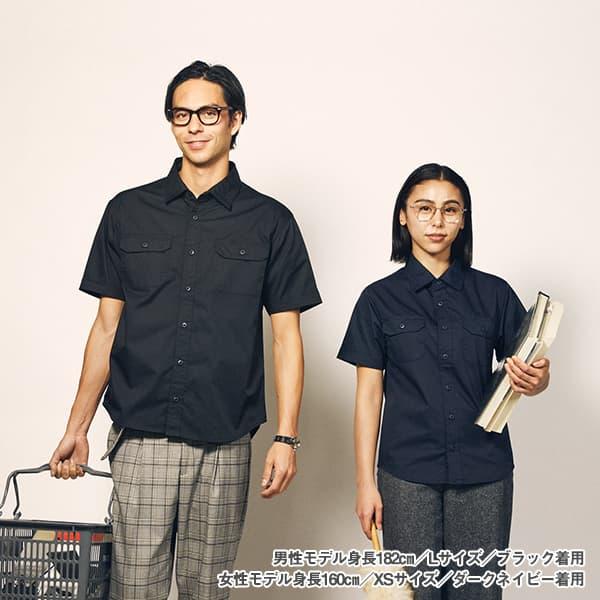 男性モデル身長182㎝/Lサイズ/ブラック 着用 女性モデル身長160㎝/XSサイズ/ダークネイビー 着用