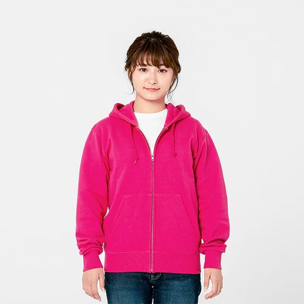 モデル身長161㎝/Sサイズ/フラミンゴピンク着用/正面シルエット
