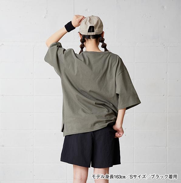 モデル身長163㎝/Sサイズ/ブラック 着用/背面
