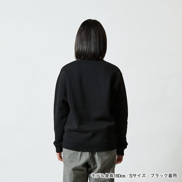 モデル身長160㎝/Sサイズ/ブラック 着用/背面シルエット