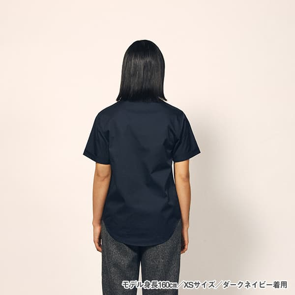 モデル身長160㎝/XSサイズ/ダークネイビー 着用/背面シルエット