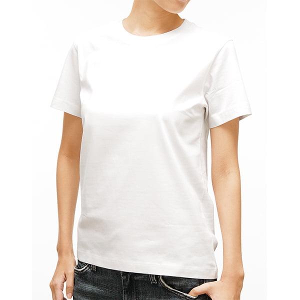 女性モデル身長163㎝/ホワイト着用/正面シルエット
