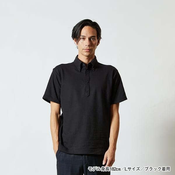 モデル身長182㎝/Lサイズ/ブラック 着用/正面シルエット