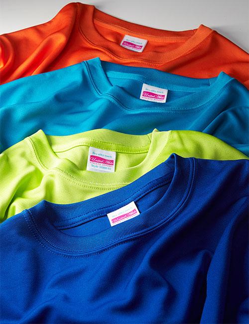 ドライシルキータッチTシャツのカラー