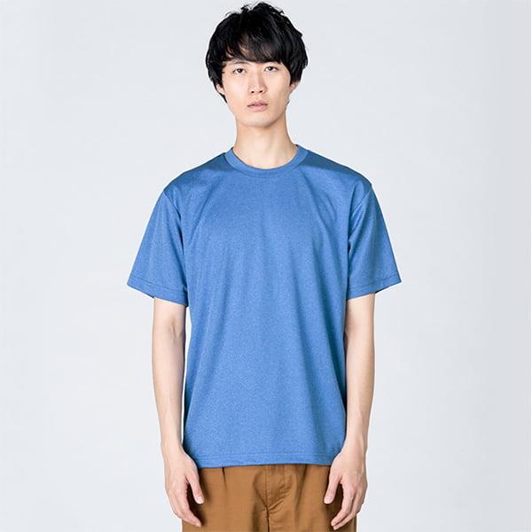 モデル身長182㎝/Lサイズ/ミックスブルー着用/正面シルエット