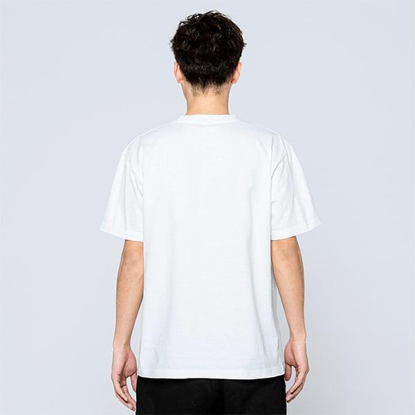 モデル身長180㎝/Lサイズ/ホワイト着用/背面シルエット