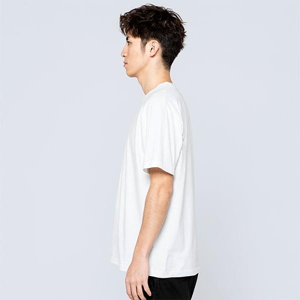 モデル身長180㎝/Lサイズ/ホワイト着用/サイドシルエット