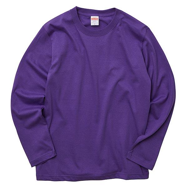 ロングスリーブTシャツのバイオレットパープル