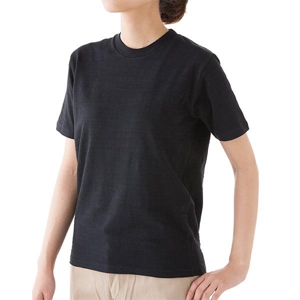 女性モデル身長163㎝/XSサイズ/ブラック着用/正面シルエット