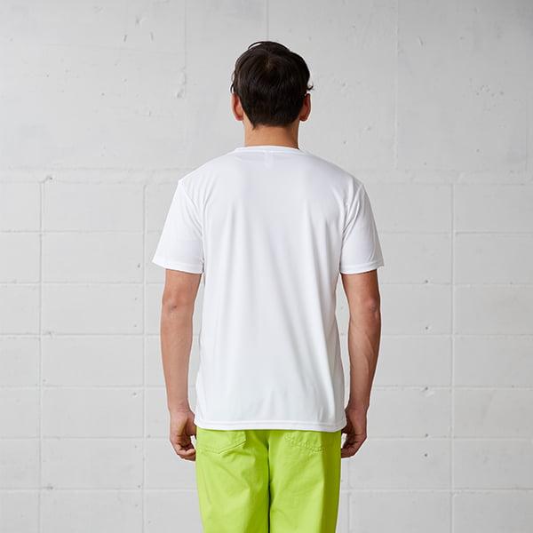 モデル身長178㎝/Lサイズ/ホワイト着用/背面シルエット