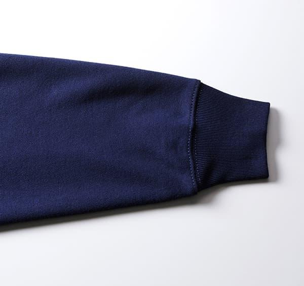 ヘヴィーウェイトクルーネックスウェット(裏パイル)の袖