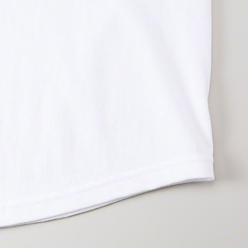 ラグランTシャツの裾