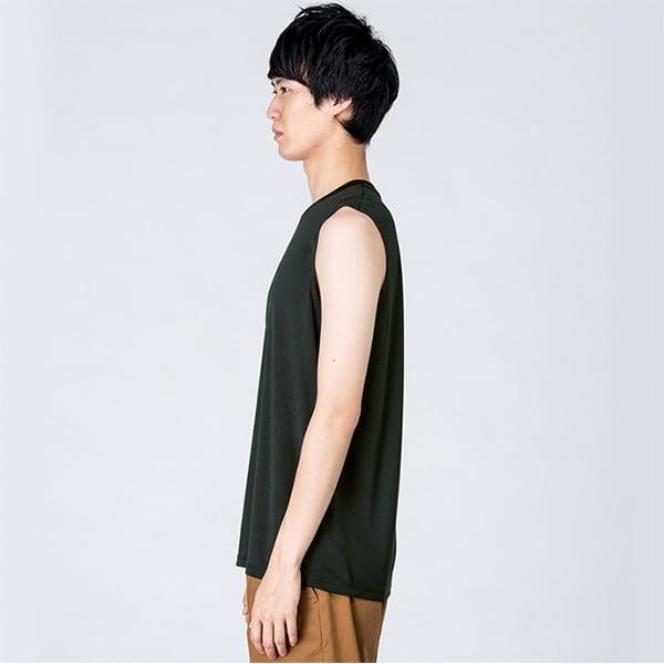 モデル身長184㎝/Lサイズ/ブラック着用/サイドシルエット