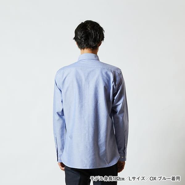モデル身長182㎝/Lサイズ/OXブルー 着用/背面シルエット