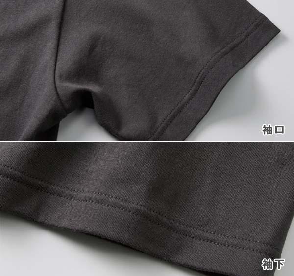 袖口・裾下は2本針始末(丸胴仕様)