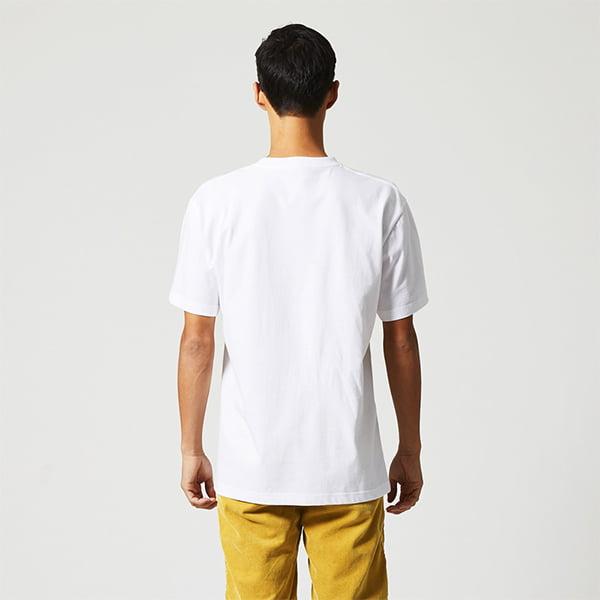 モデル身長182㎝/Lサイズ/ホワイト着用/背面シルエット