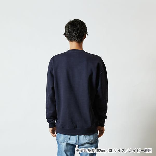 モデル身長182㎝/XLサイズ/ネイビー 着用/背面シルエット