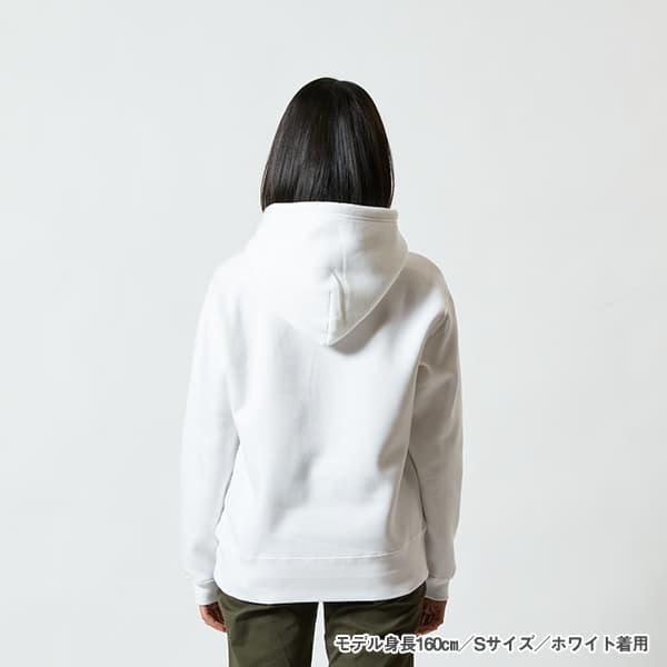 モデル身長160㎝/Sサイズ/ホワイト 着用/背面シルエット