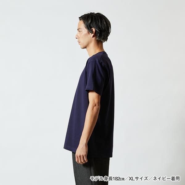 モデル身長182㎝/XLサイズ/ネイビー 着用/サイドシルエット