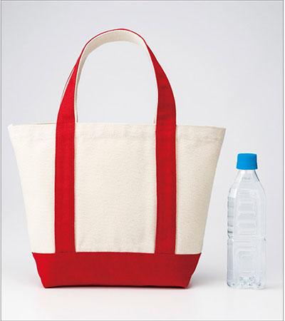 ミニヘビートートバッグと500mlペットボトル 大きさの比較