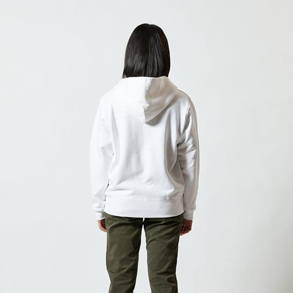 モデル身長160㎝/Sサイズ/ホワイト着用/背面シルエット