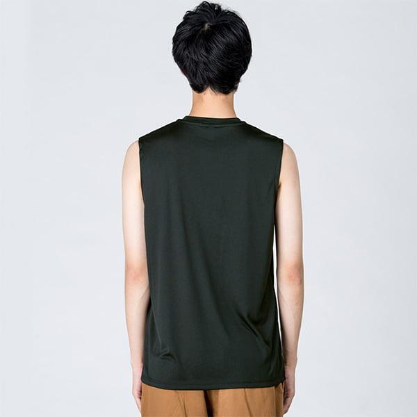 モデル身長184㎝/Lサイズ/ブラック着用/背面シルエット