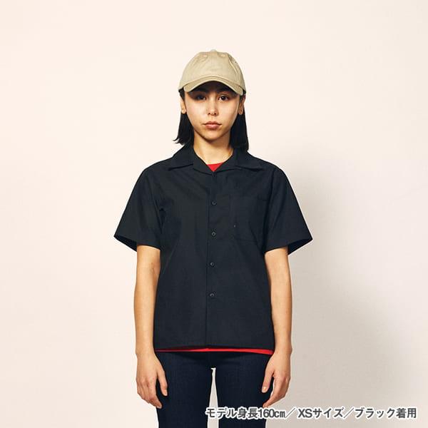 モデル身長160㎝/XSサイズ/ブラック 着用/正面シルエット