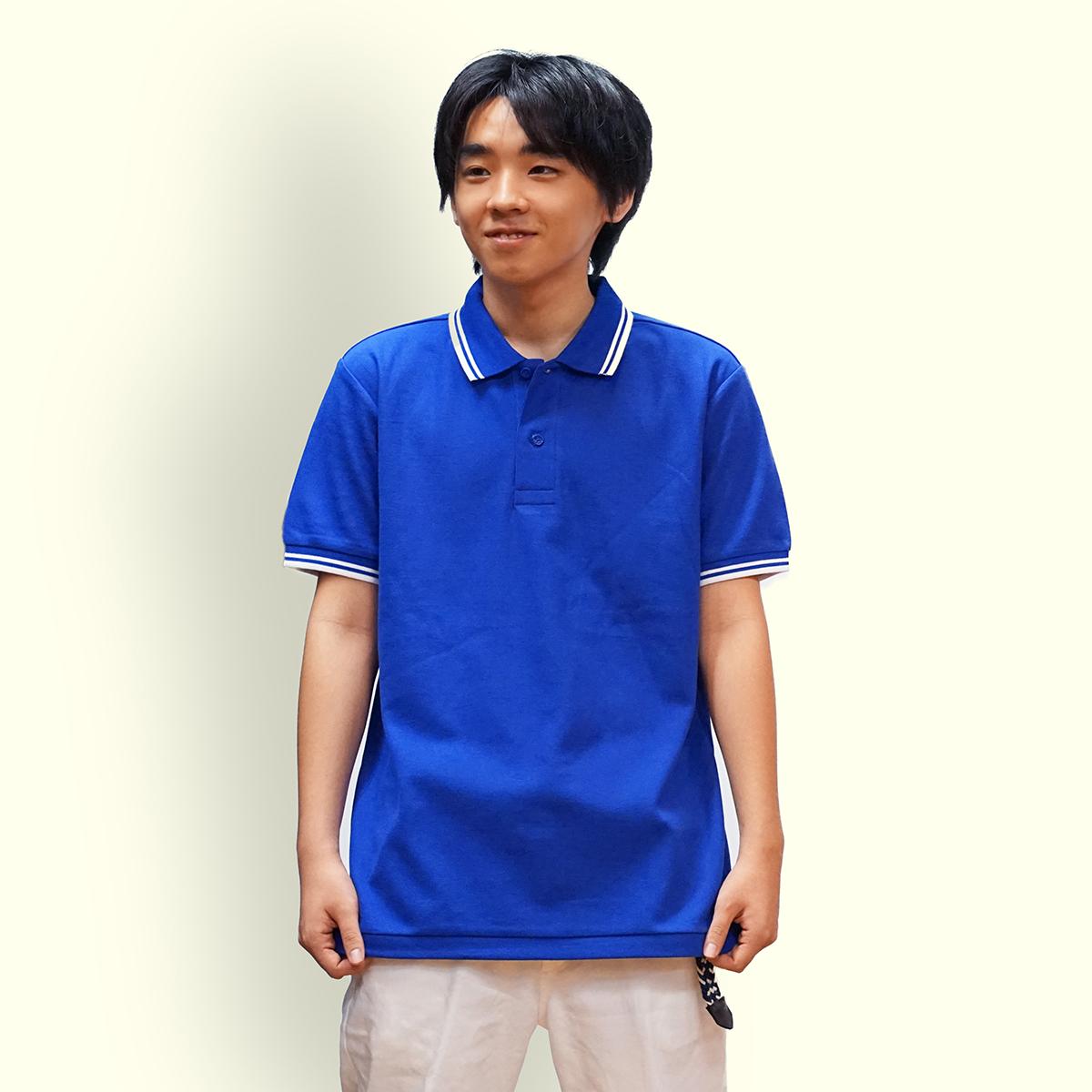 男性Mサイズ着用イメージ ロイヤルブルー