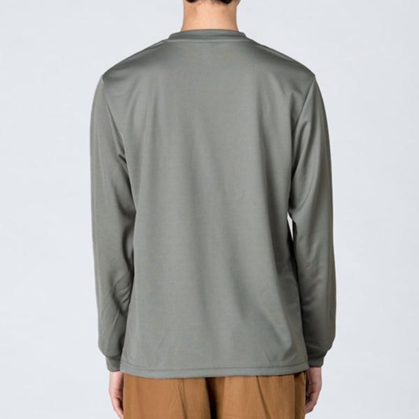 モデル身長178㎝/Lサイズ/グレー着用/背面シルエット