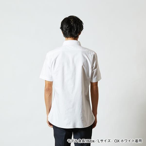 モデル身長182㎝/Lサイズ/OXホワイト 着用/背面シルエット