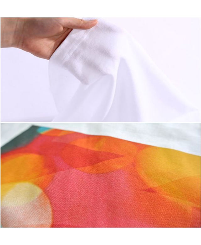 即日Tシャツ ホワイトにプリント