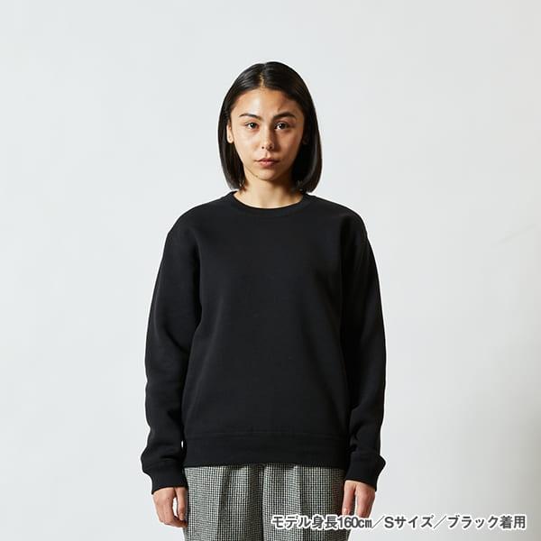 モデル身長160㎝/Sサイズ/ブラック 着用/正面シルエット