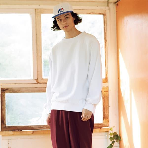 モデル身長175㎝/Lサイズ/ホワイト着用