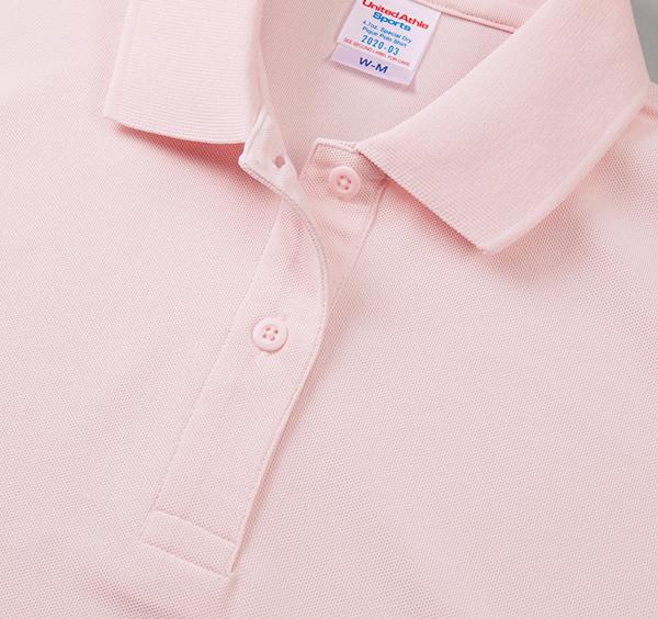 スペシャルドライカノコポロシャツ(ローブリード)〈ウィメンズ〉の襟周り2