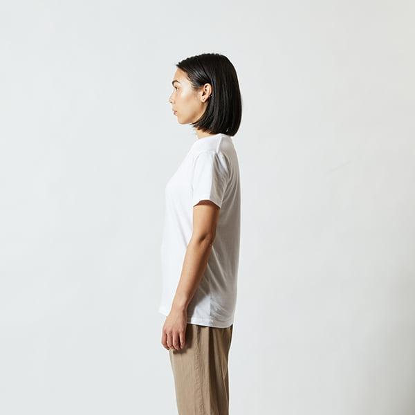 モデル身長160㎝/G-Mサイズ/ホワイト着用/サイドシルエット