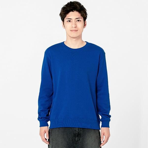 モデル身長180㎝/Lサイズ/ブルー着用/正面シルエット